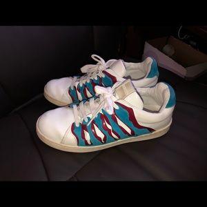Kenzo Paris Leather side slashed shoes